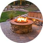 Hardscape Contractor Firepit Installation